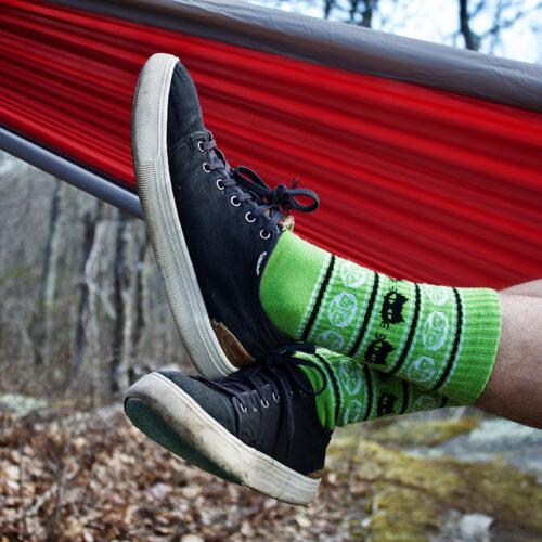 Photo of green socks